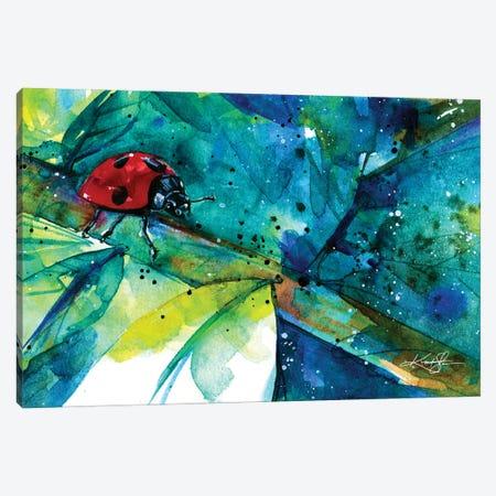 Ladybug II Canvas Print #KMS172} by Kathy Morton Stanion Canvas Art