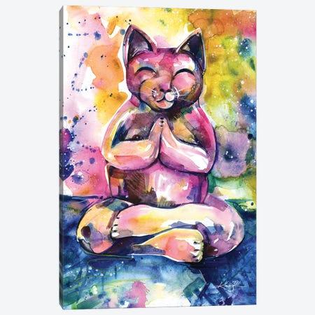 Buddha Cat XI Canvas Print #KMS179} by Kathy Morton Stanion Canvas Artwork