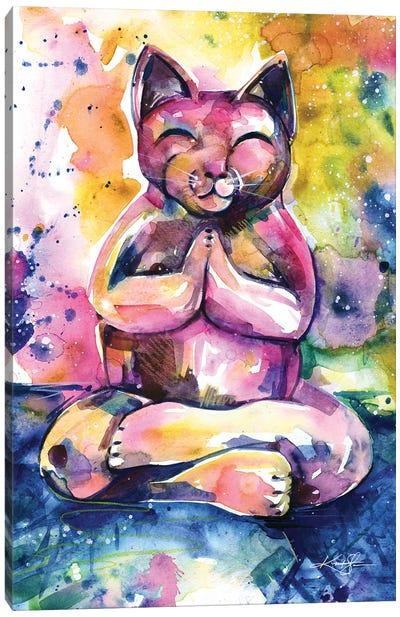Buddha Cat XI Canvas Art Print