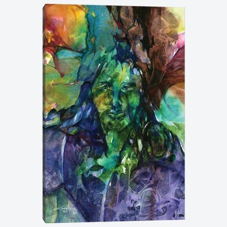 Green Man Canvas Print #KMS181} by Kathy Morton Stanion Art Print