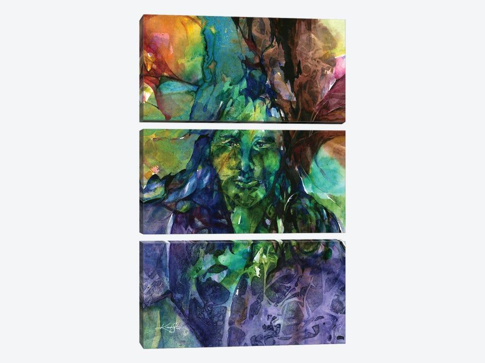 Green Man by Kathy Morton Stanion 3-piece Art Print