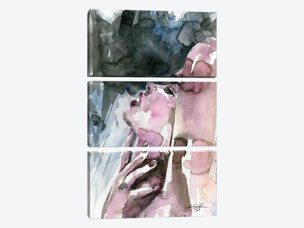 A Sensual Moment by Kathy Morton Stanion 3-piece Canvas Wall Art