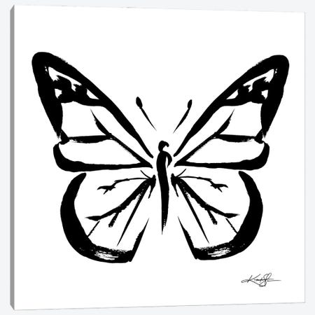 Brushstroke Butterfly XI Canvas Print #KMS187} by Kathy Morton Stanion Canvas Wall Art