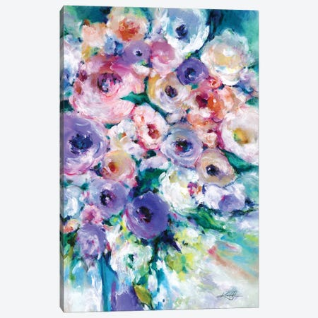 Sunday Bouquet Canvas Print #KMS209} by Kathy Morton Stanion Canvas Art