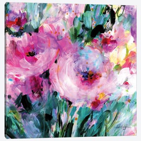 Enchanting Blooms II Canvas Print #KMS221} by Kathy Morton Stanion Canvas Artwork