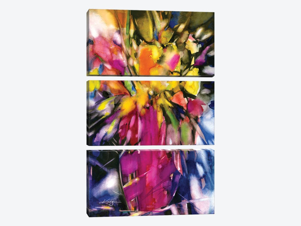 Soft Blooms by Kathy Morton Stanion 3-piece Art Print