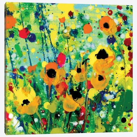 Deep In The Meadow IX Canvas Print #KMS238} by Kathy Morton Stanion Art Print