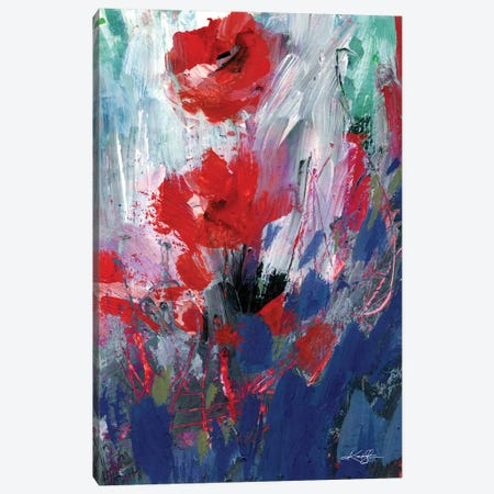 Abstract Floral LXIX Canvas Print #KMS239} by Kathy Morton Stanion Canvas Art Print