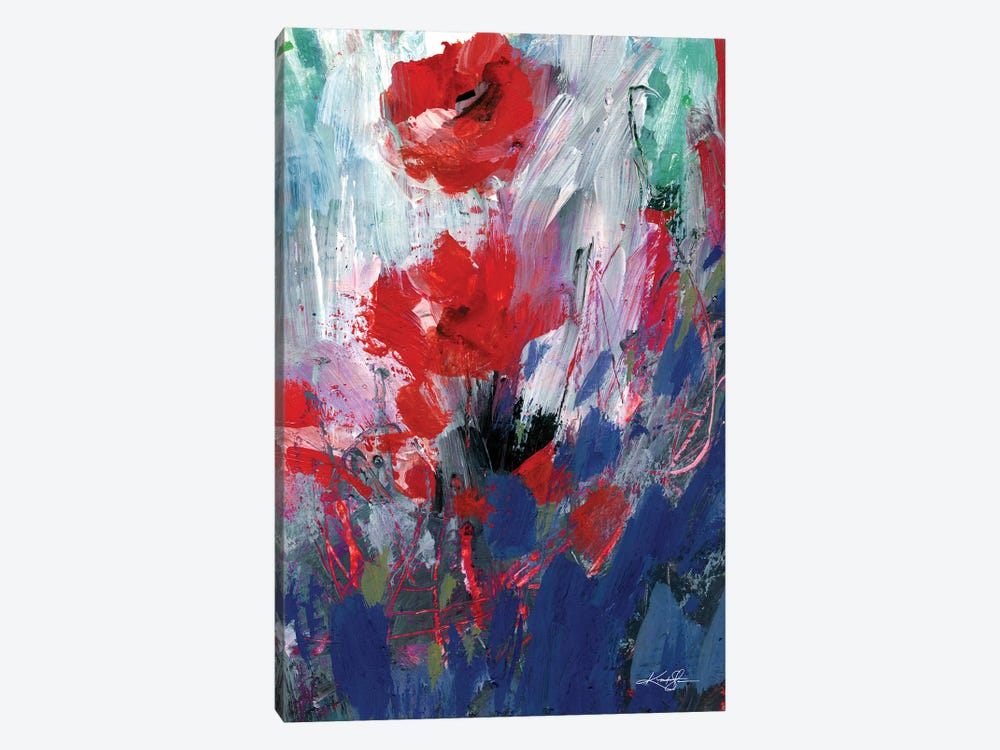 Abstract Floral LXIX by Kathy Morton Stanion 1-piece Canvas Wall Art