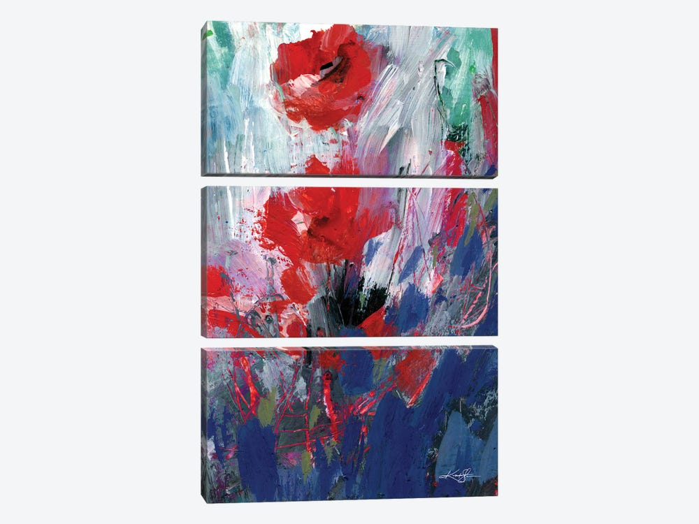 Abstract Floral LXIX by Kathy Morton Stanion 3-piece Canvas Art