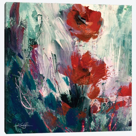 Abstract Floral LXIX-II Canvas Print #KMS240} by Kathy Morton Stanion Canvas Artwork