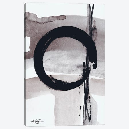 Enso Abstraction CIV-III Canvas Print #KMS255} by Kathy Morton Stanion Canvas Artwork