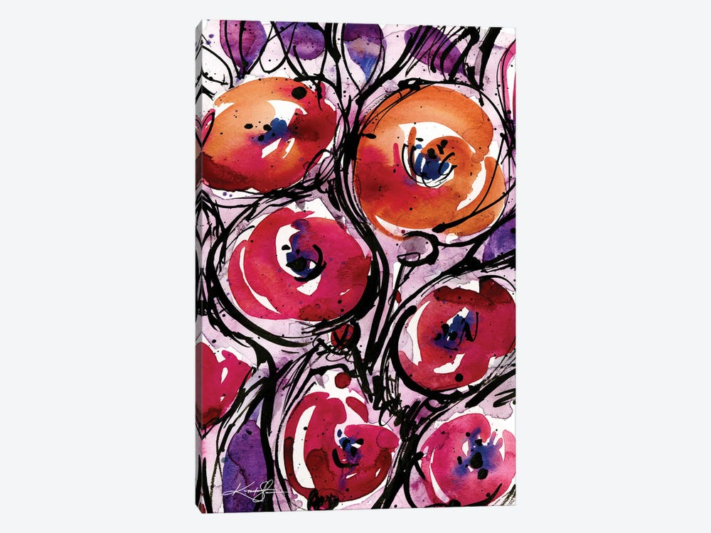 Poppy Love by Kathy Morton Stanion 1-piece Canvas Wall Art