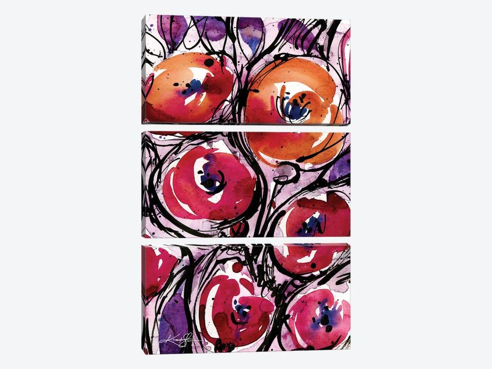 Poppy Love by Kathy Morton Stanion 3-piece Canvas Art