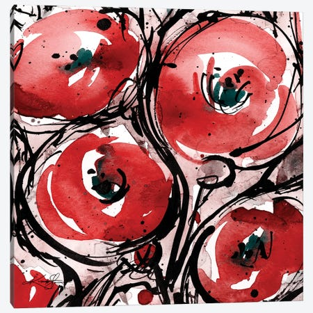 Poppy Love II Canvas Print #KMS258} by Kathy Morton Stanion Art Print