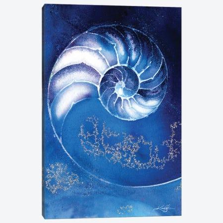 Nautilus Shell IIIA Canvas Print #KMS277} by Kathy Morton Stanion Canvas Art