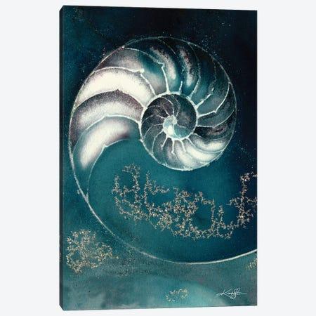 Nautilus Shell IIIC Canvas Print #KMS279} by Kathy Morton Stanion Art Print