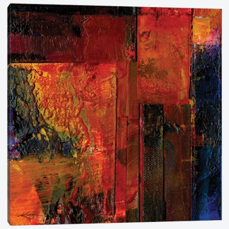 Oil Abstraction XIIIA Canvas Print #KMS281} by Kathy Morton Stanion Canvas Artwork