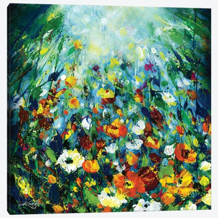 In The Enchanted Garden I Canvas Print #KMS289} by Kathy Morton Stanion Canvas Art