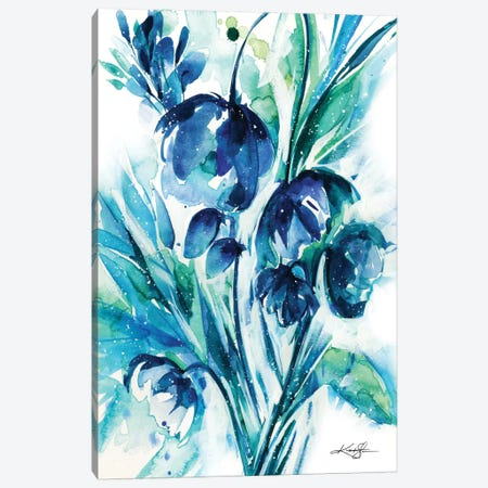 Serene Blooms I Canvas Print #KMS31} by Kathy Morton Stanion Canvas Art Print