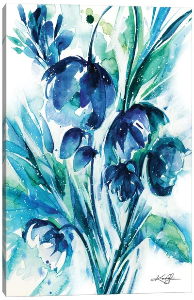 Serene Blooms I Canvas Print #KMS31