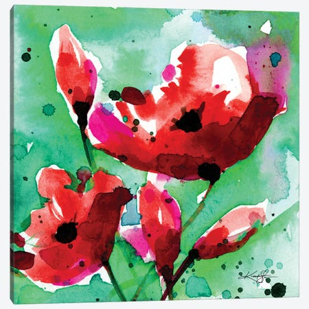 Poppy Love 1 Canvas Print #KMS332} by Kathy Morton Stanion Canvas Art