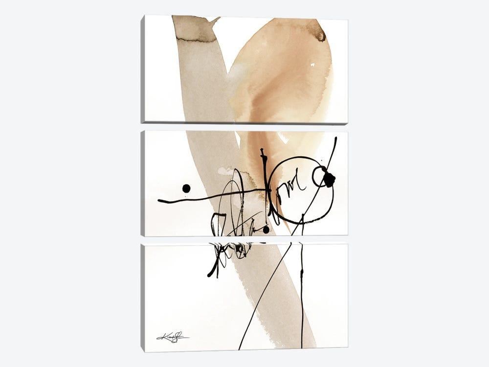 Abstraction XXVIII-II by Kathy Morton Stanion 3-piece Canvas Print