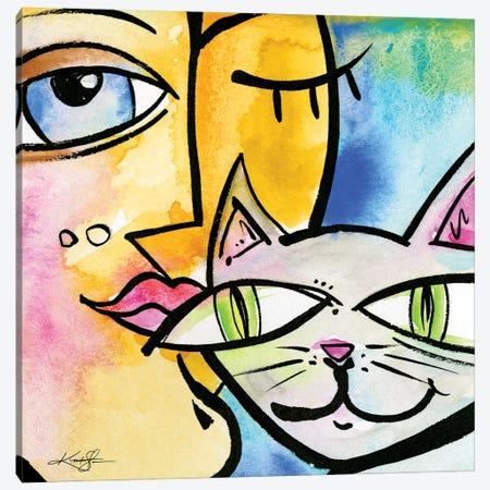 My Crazy Cat VI Canvas Print #KMS366} by Kathy Morton Stanion Canvas Art