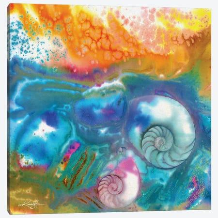 Sea Jewels IV Canvas Print #KMS373} by Kathy Morton Stanion Canvas Wall Art