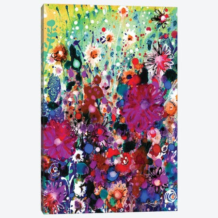 Meadow Of Happiness I Canvas Print #KMS402} by Kathy Morton Stanion Canvas Art