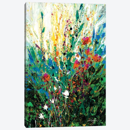 Floral Escape Canvas Print #KMS41} by Kathy Morton Stanion Canvas Art