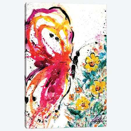 Dancing With The Butterflies Canvas Print #KMS48} by Kathy Morton Stanion Canvas Artwork