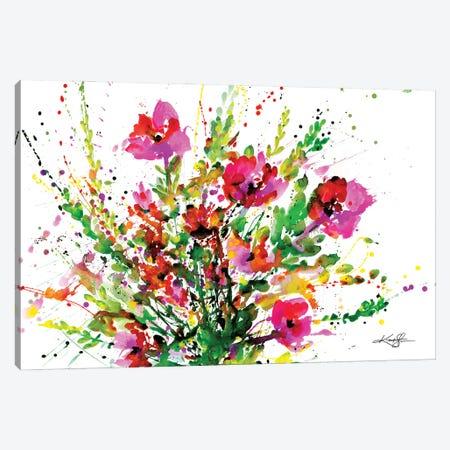 Flowers Make Me Happy 4 Canvas Print #KMS49} by Kathy Morton Stanion Canvas Artwork