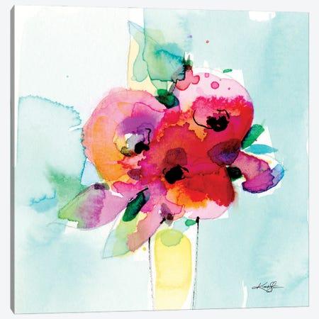Flowers X Canvas Print #KMS66} by Kathy Morton Stanion Canvas Print
