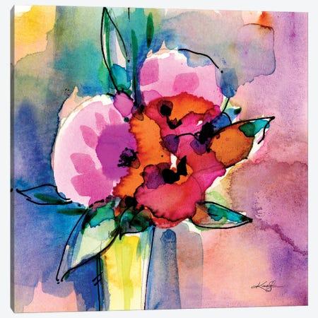 Flowers XIII Canvas Print #KMS67} by Kathy Morton Stanion Art Print