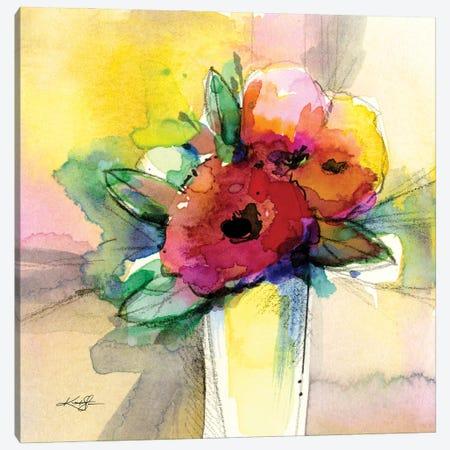 Flowers XXXI Canvas Print #KMS68} by Kathy Morton Stanion Canvas Artwork