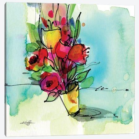 Flowers XLIII Canvas Print #KMS69} by Kathy Morton Stanion Canvas Artwork