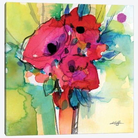 Flowers XLIV Canvas Print #KMS70} by Kathy Morton Stanion Art Print