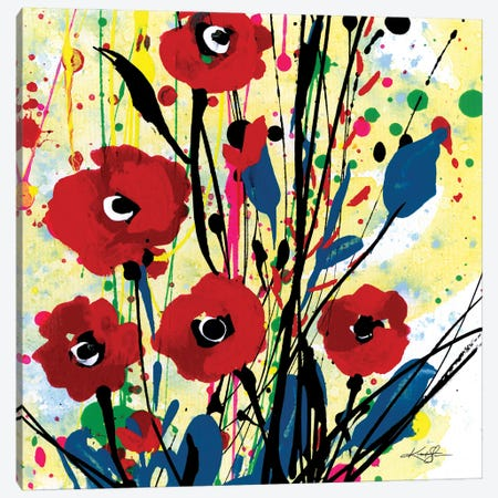 Poppy Dreams III Canvas Print #KMS81} by Kathy Morton Stanion Canvas Wall Art