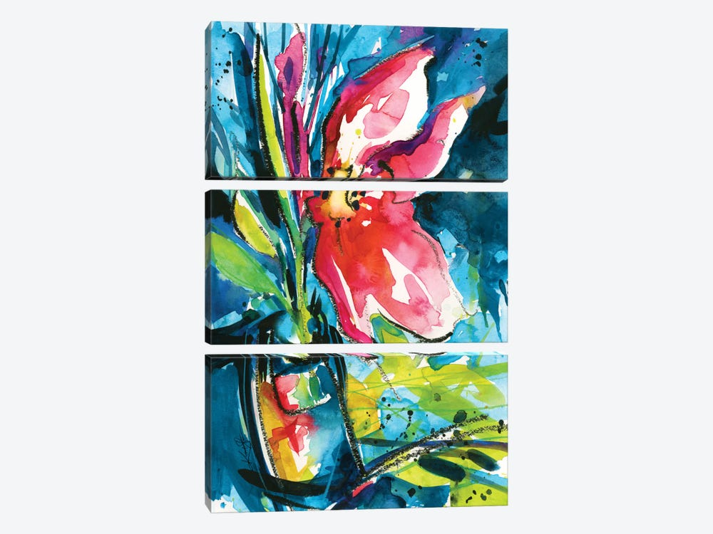 Floral Delight I by Kathy Morton Stanion 3-piece Canvas Wall Art