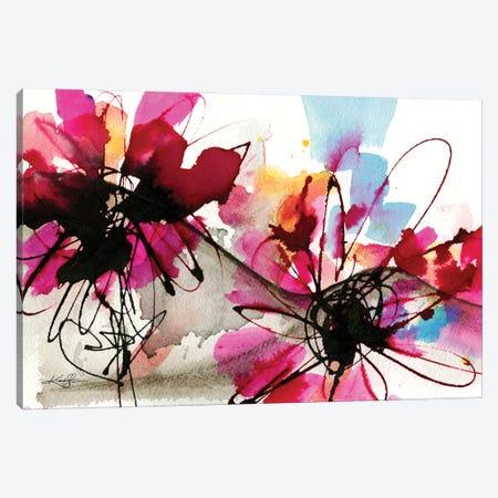 Floral Dance VII Canvas Print #KMS94} by Kathy Morton Stanion Canvas Artwork