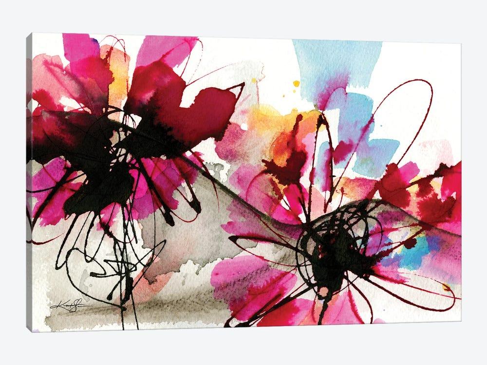 Floral Dance VII by Kathy Morton Stanion 1-piece Canvas Art Print