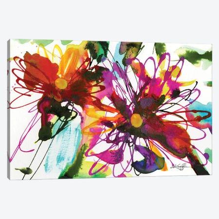 Floral Dance XVIII Canvas Print #KMS95} by Kathy Morton Stanion Canvas Artwork