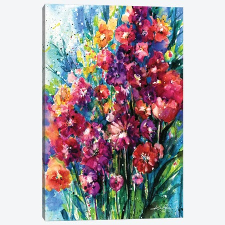 Floral Jubilee I Canvas Print #KMS9} by Kathy Morton Stanion Canvas Print