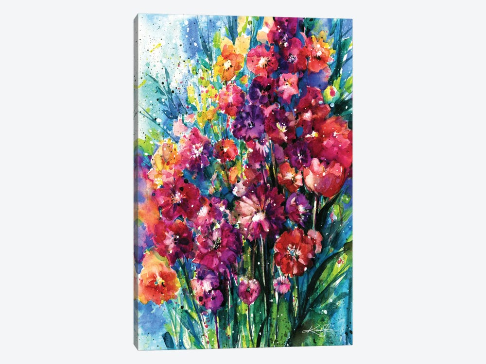 Floral Jubilee I by Kathy Morton Stanion 1-piece Art Print
