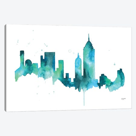 NYC Skyline Canvas Print #KMT101} by Kelsey McNatt Canvas Artwork