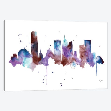 OKC Skyline Canvas Print #KMT103} by Kelsey McNatt Canvas Wall Art
