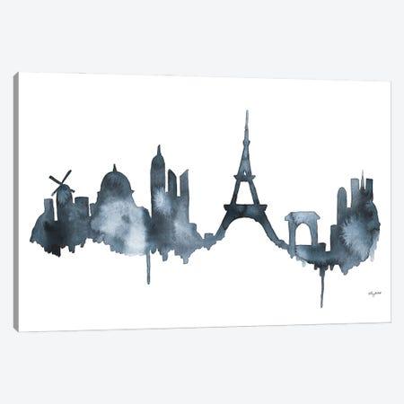 Paris Skyline Canvas Print #KMT106} by Kelsey McNatt Art Print