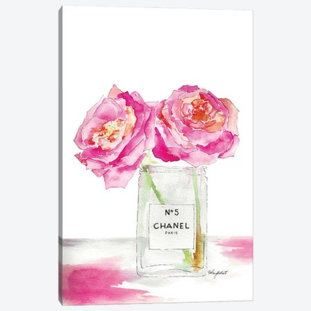 Peonies And Perfum Canvas Print #KMT109} by Kelsey McNatt Canvas Art
