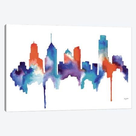Philly Skyline Canvas Print #KMT110} by Kelsey McNatt Art Print